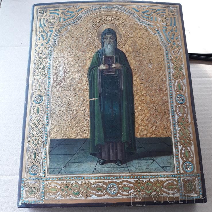 Икона Нестор Летописец 19-20в, фото №9
