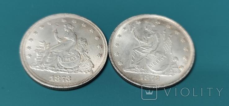 Liberty 1873 и 1872 г. Копии., фото №3