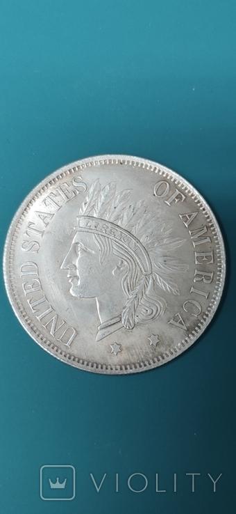 1 dollar 1851. Копия., фото №2