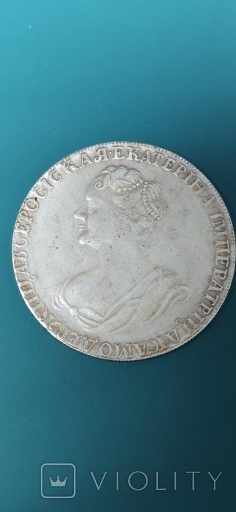 Рубль 1727 г. Копия., фото №2