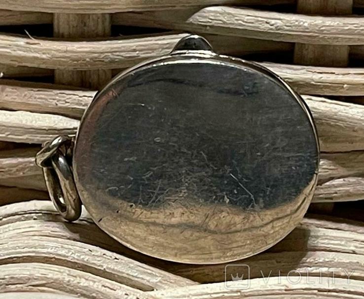 Испания старинная коллекционная Табакерка Кулон Начало ХХ века Серебро 925 пр, фото №3