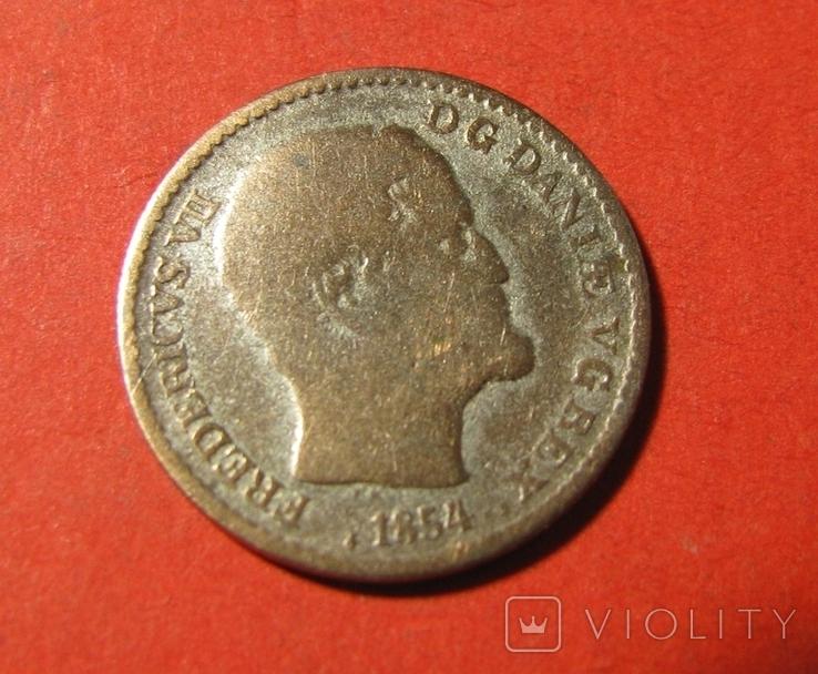 Данія 4 скілінга 1854, фото №3