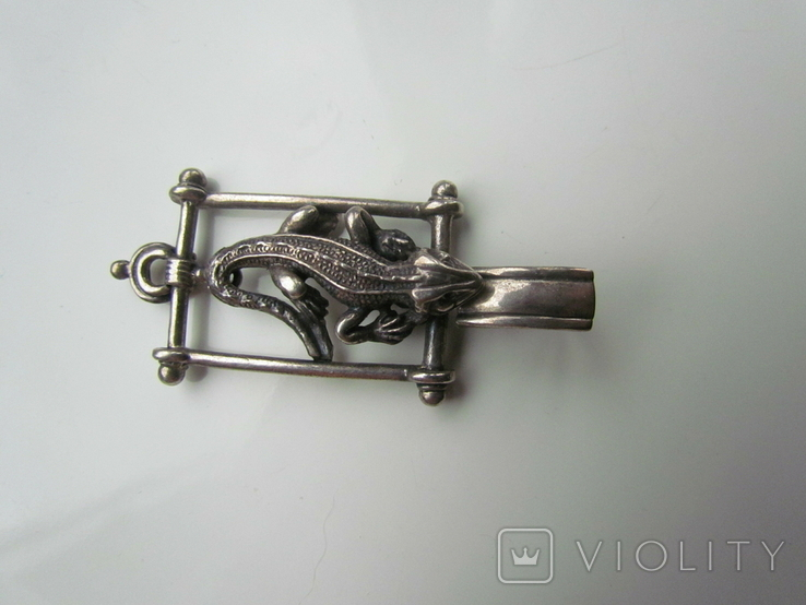 Кулон Ящерица серебро 925 пр., фото №5