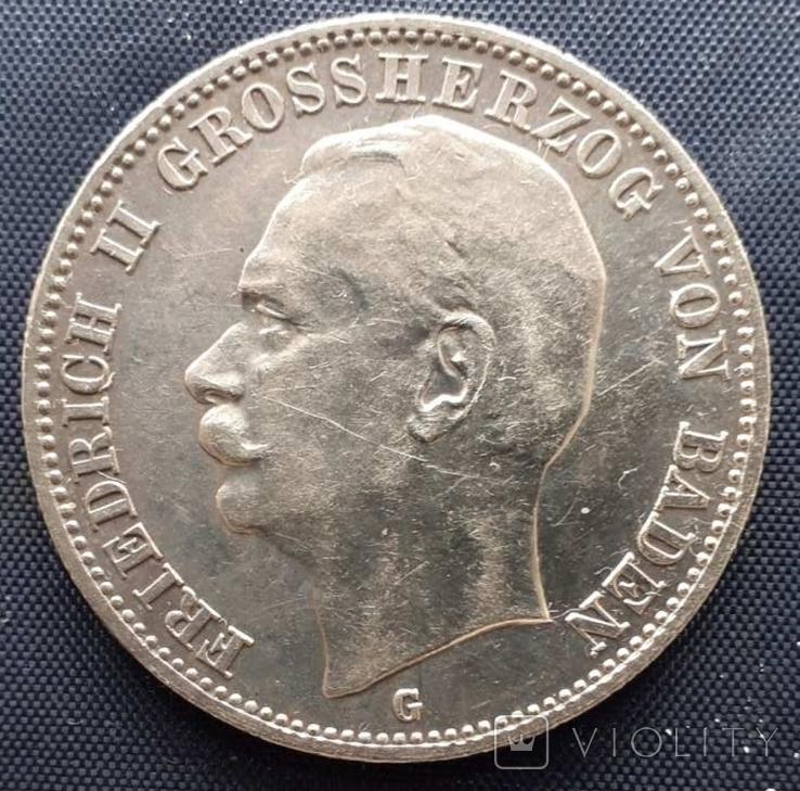 3 марки Баден Фридрих II 1908г., фото №2