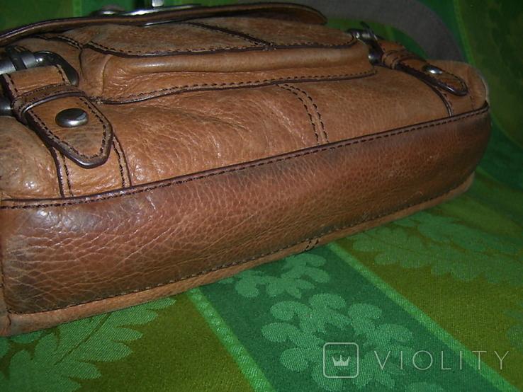 Сумка кожаная Fossil Long Live Vintage и наплечный ремень Cowboys Bag, фото №7