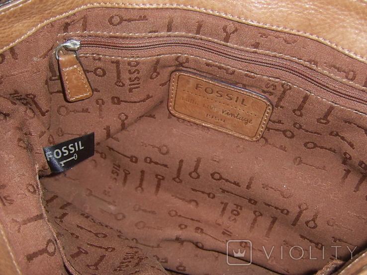 Сумка кожаная Fossil Long Live Vintage и наплечный ремень Cowboys Bag, фото №10