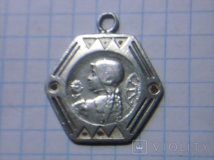 Старинный серебряный медальон, фото №3