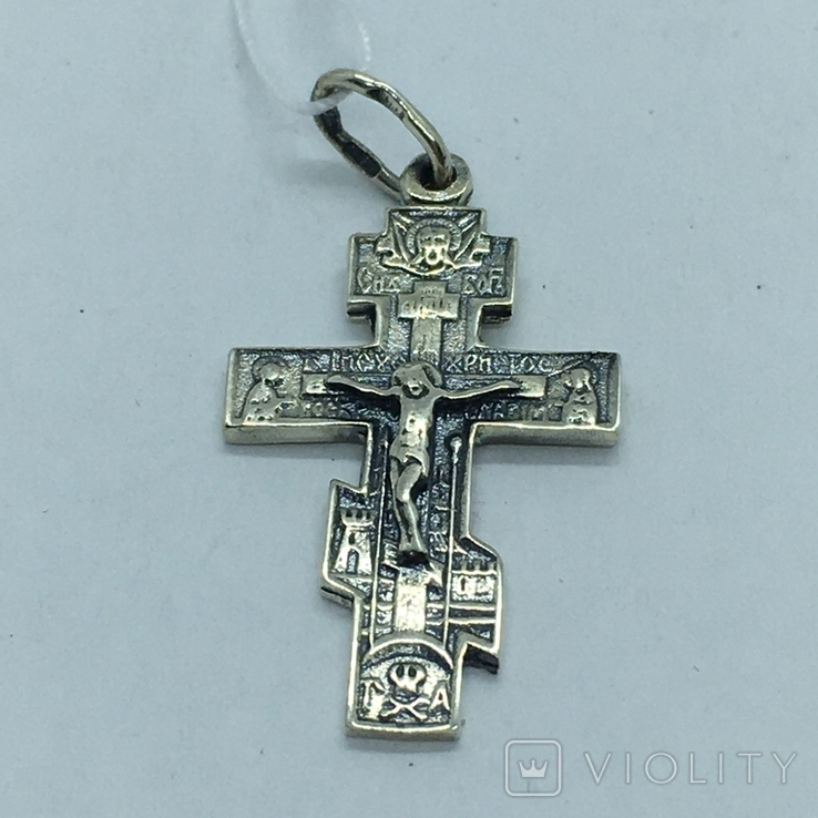 Подвес крест серебро, фото №4