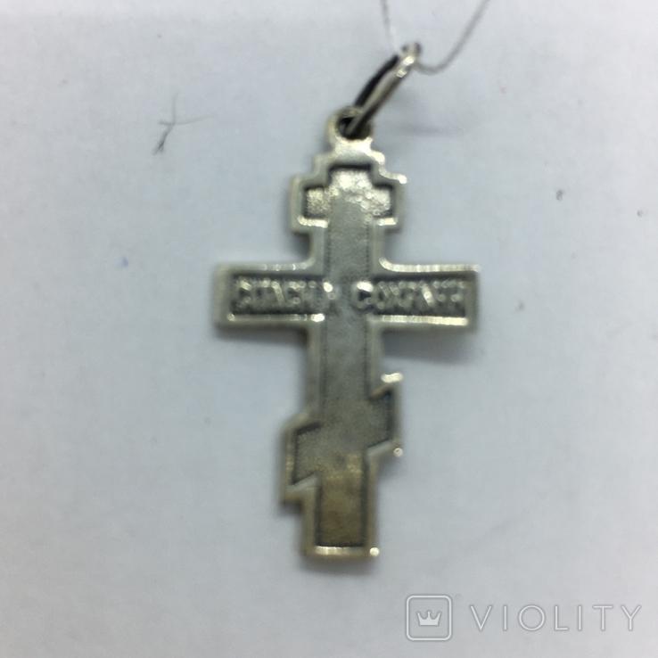 Подвес крест серебро, фото №5