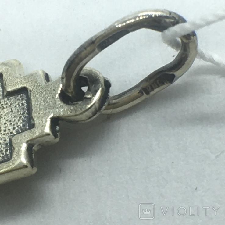 Подвес крест серебро, фото №6