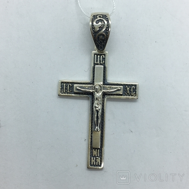 Подвес крест серебро, фото №3