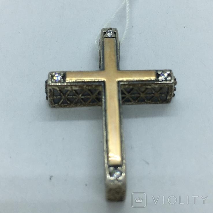 Кулон крест серебро, фото №4