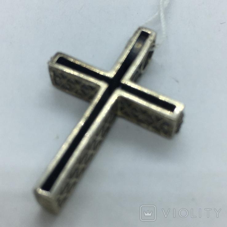 Кулон крест серебро, фото №5