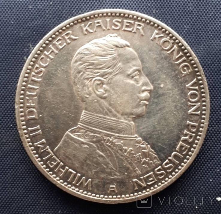 3 марки Пруссия Вильгельм II 1914г., фото №2