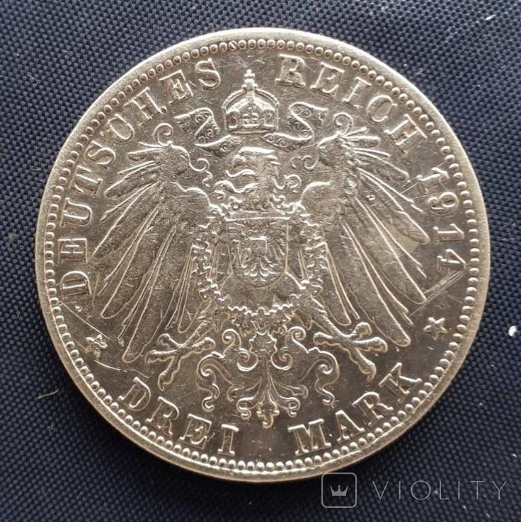 3 марки Бавария Людвиг III 1914г., фото №3