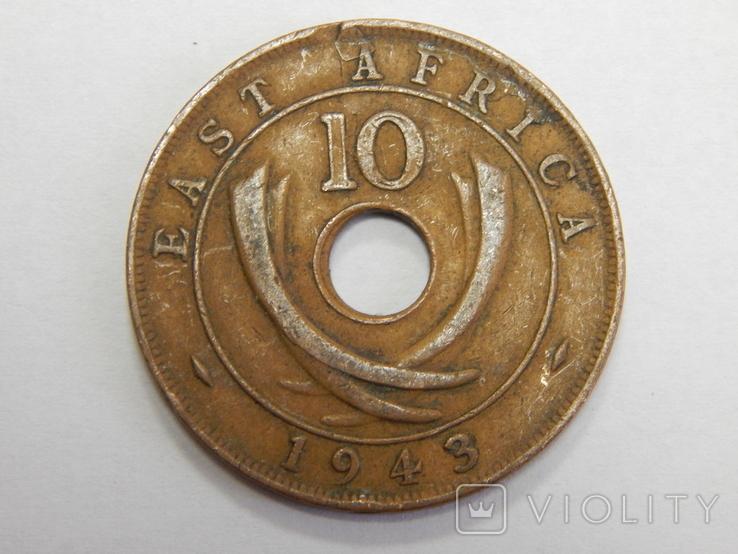 10 центов, 1943 г Британская Африка, фото №2