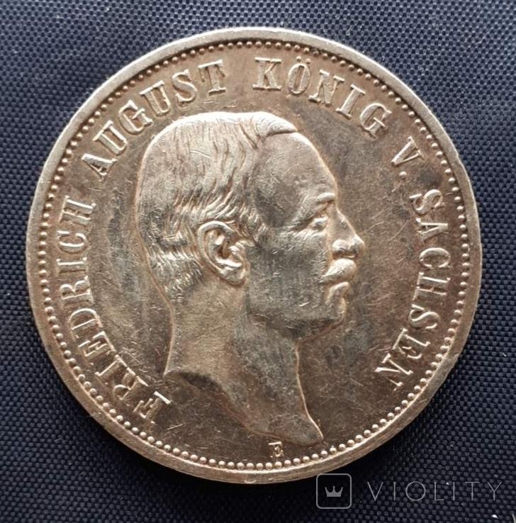 3 марки Саксония Фридрих Август III 1912г., фото №2
