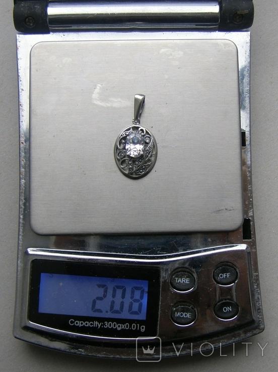 Кулон. Серебро 925 пр. Вес - 2,08 г., фото №2