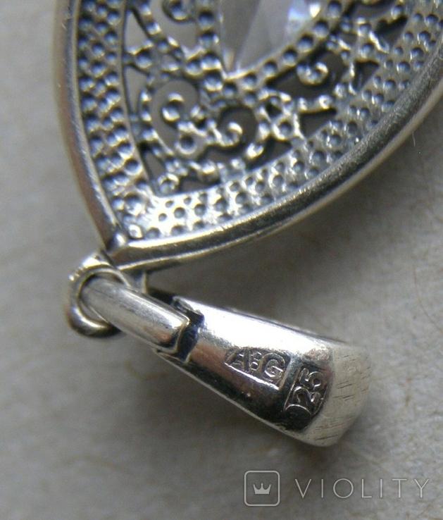 Кулон. Серебро 925 пр. Вес - 2,49 г., фото №5