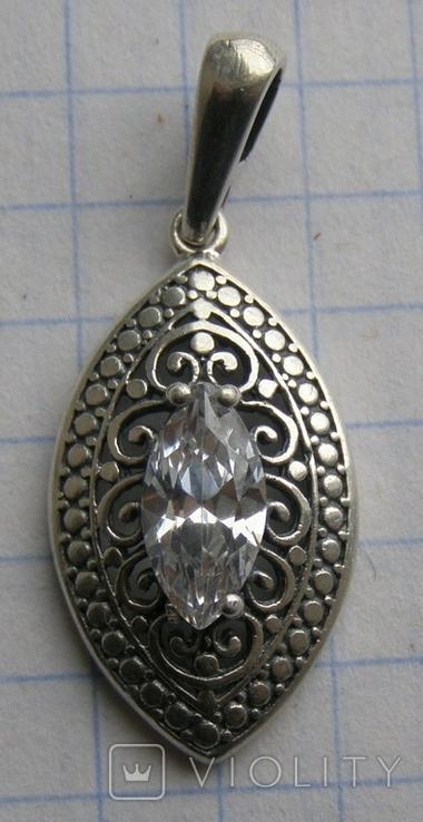Кулон. Серебро 925 пр. Вес - 2,49 г., фото №6