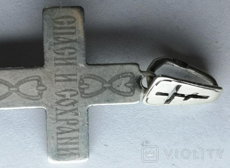 Крестик нательный серебро 925, фото №5