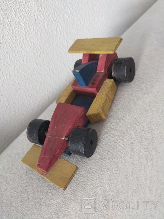 Деревянная гоночная машина винтажная, фото №2