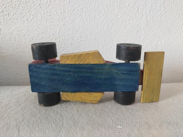 Деревянная гоночная машина винтажная, фото №4