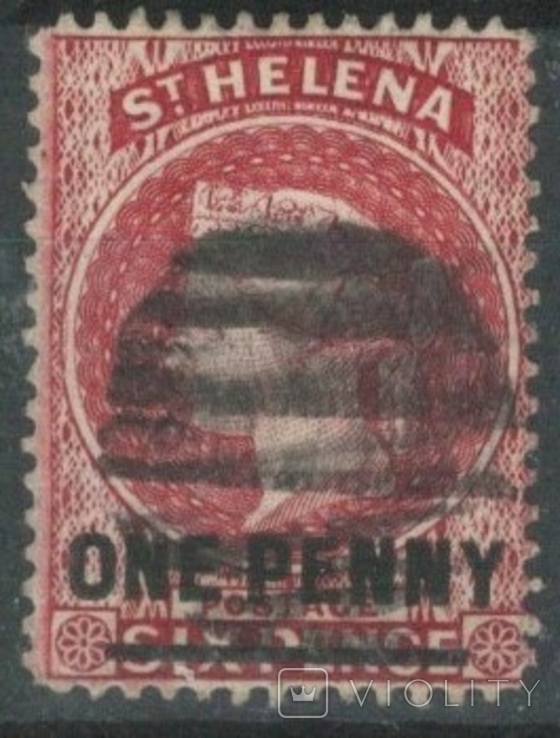Бж12б Британские колонии. Святой Елены о. 1887 №14