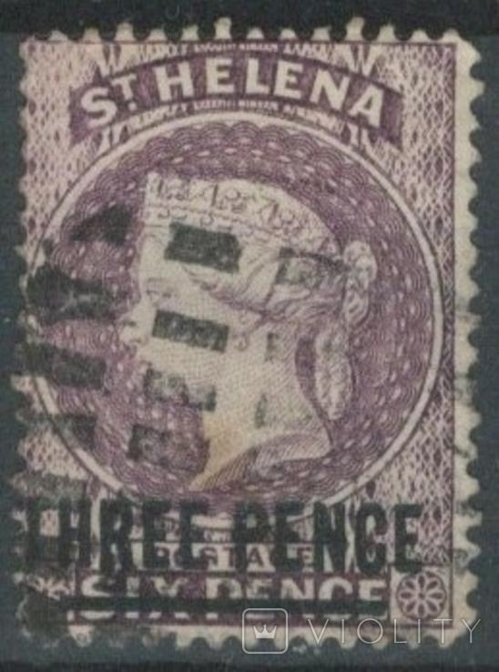 Бж12г Британские колонии. Святой Елены о. 1887 №17 (6 евро)