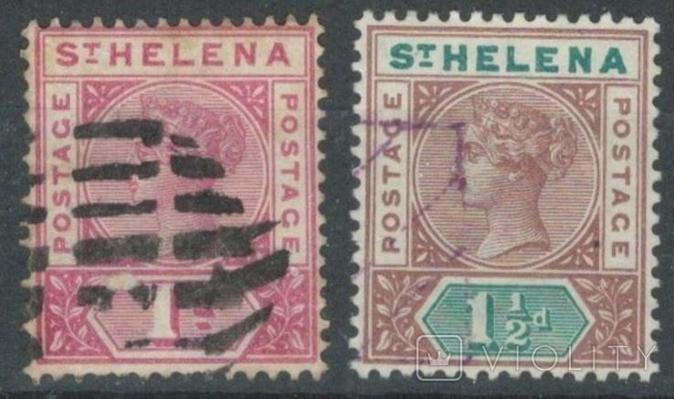 Бж13а Британские колонии. Святой Елены о. 1890 №№22-23 (15 евро)