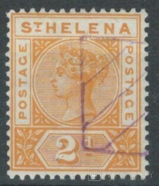 Бж13б Британские колонии. Святой Елены о. 1896 №24 (16 евро)