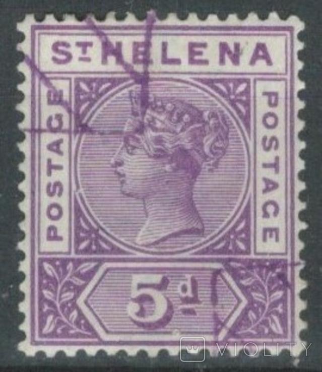Бж13в Британские колонии. Святой Елены о. 1896 №26 (40 евро)