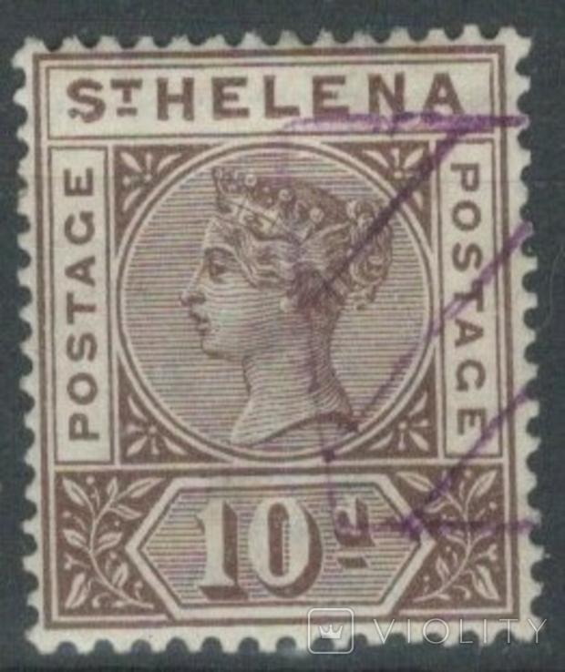 Бж13г Британские колонии. Святой Елены о. 1896 №27 (концовка, 80 евро)