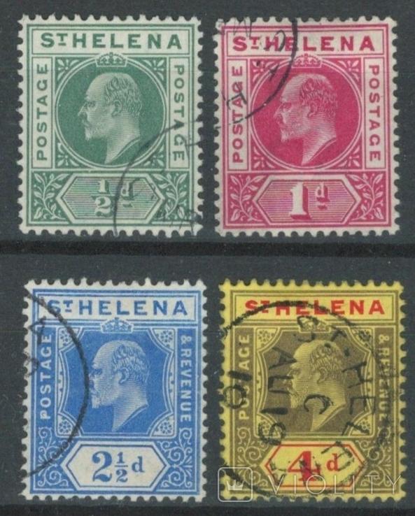 Бж14 Британские колонии. Святой Елены о. 1902-1908 №№28-29 и 36-37 (31 евро)