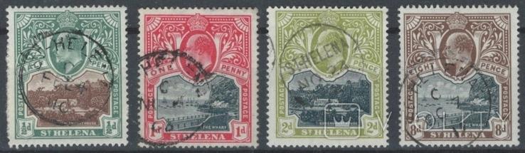 Бж15б Британские колонии. Святой Елены о. 1903 №№ 30-33 (47 евро)