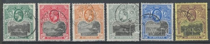 Бж15г Британские колонии. Святой Елены о. 1912 №№ 40-45 (44 евро)