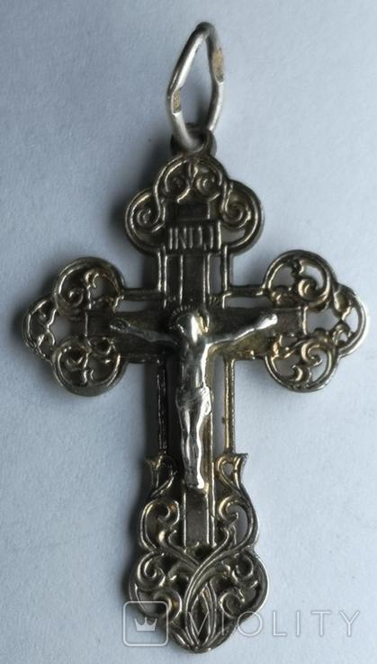 Крестик нательный серебро 925 №2, фото №4