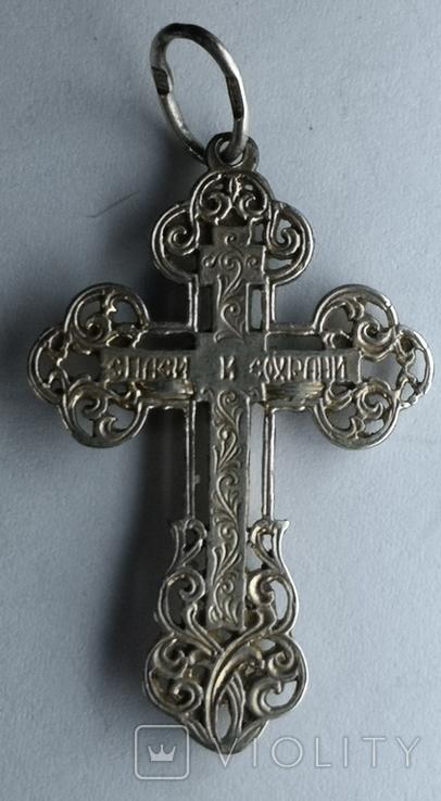 Крестик нательный серебро 925 №2, фото №5