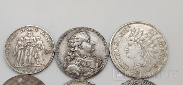 Монеты посеребрение Копия лот 1, фото №3