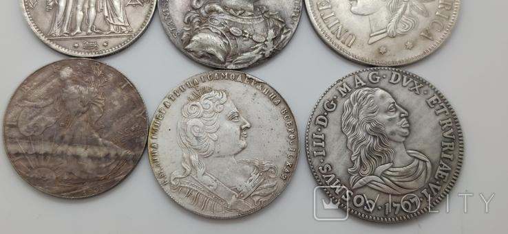 Монеты посеребрение Копия лот 1, фото №4