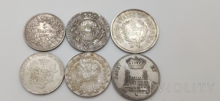 Монеты посеребрение Копия лот 1, фото №6