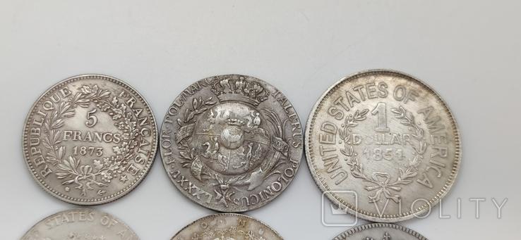 Монеты посеребрение Копия лот 1, фото №7
