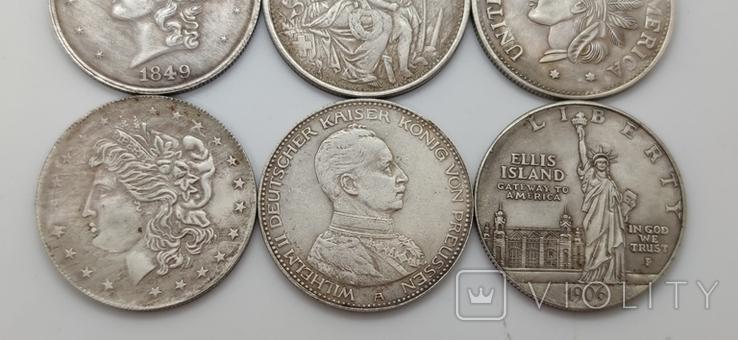 Монеты посеребрение Копия лот 2, фото №4