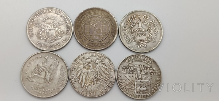 Монеты посеребрение Копия лот 2, фото №6