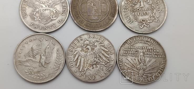 Монеты посеребрение Копия лот 2, фото №8