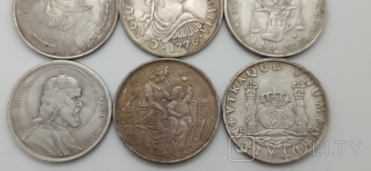 Монеты посеребрение Копия лот 3, фото №4