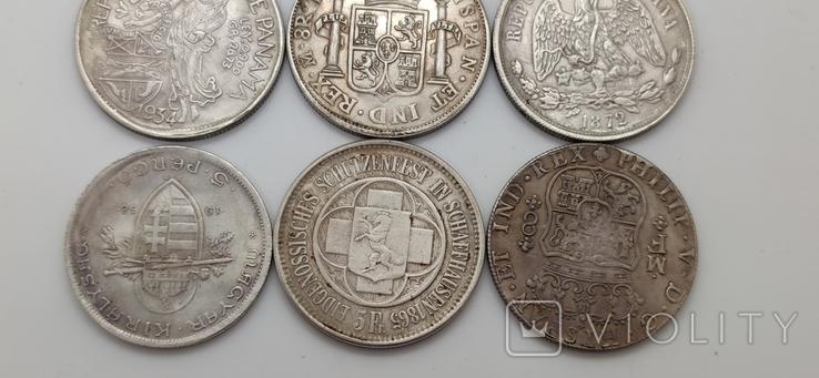 Монеты посеребрение Копия лот 3, фото №8