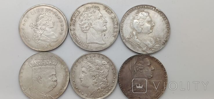 Монеты посеребрение Копия лот 4, фото №2