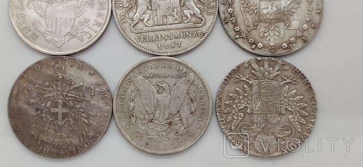 Монеты посеребрение Копия лот 4, фото №8
