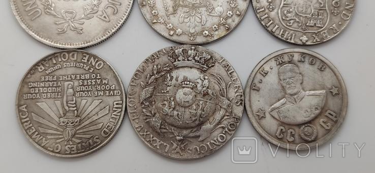 Монеты посеребрение Копия лот 5, фото №8